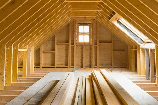 Uninsulated Attic