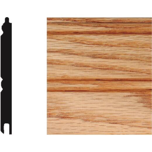House of Fara 5/16 In. W. x 3-1/8 In. H. x 32 In. L. Unfinished Solid Red Oak Wainscot (6-Pack)