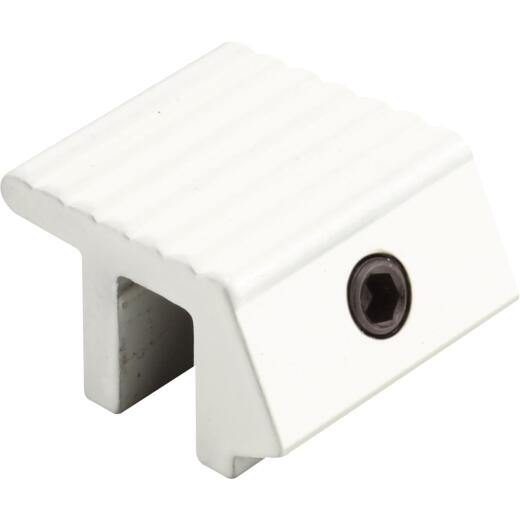Defender Security 1 In. White Single Hex Sliding Window Lock