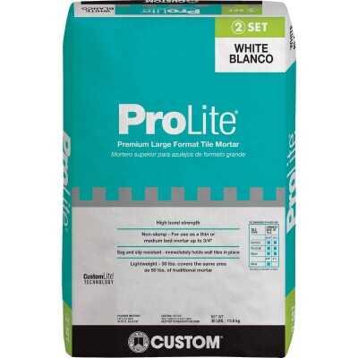 Custom Building Products ProLite 30 Lb. White Tile & Stone Mortar