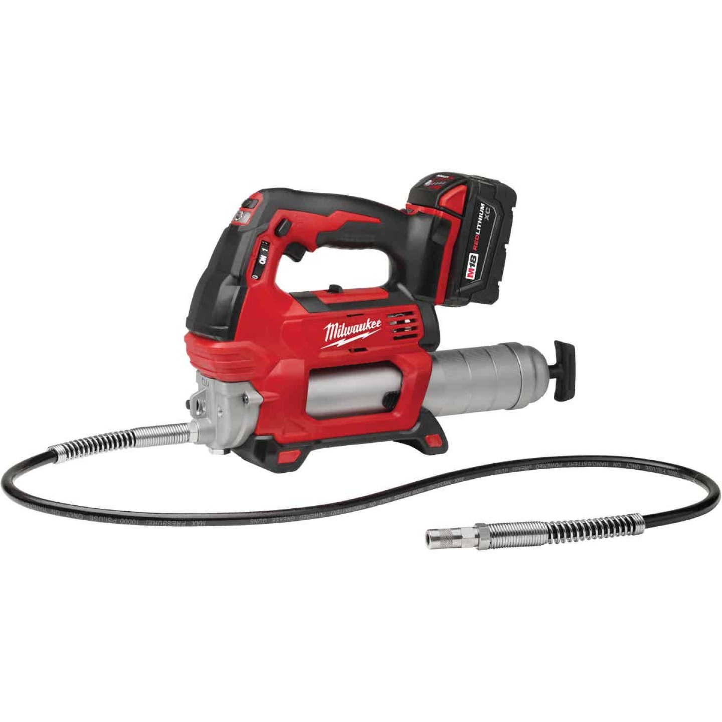 Milwaukee M18 18 Volt Lithium-Ion 2-Speed Cordless Grease Gun (Bare Tool) Image 3