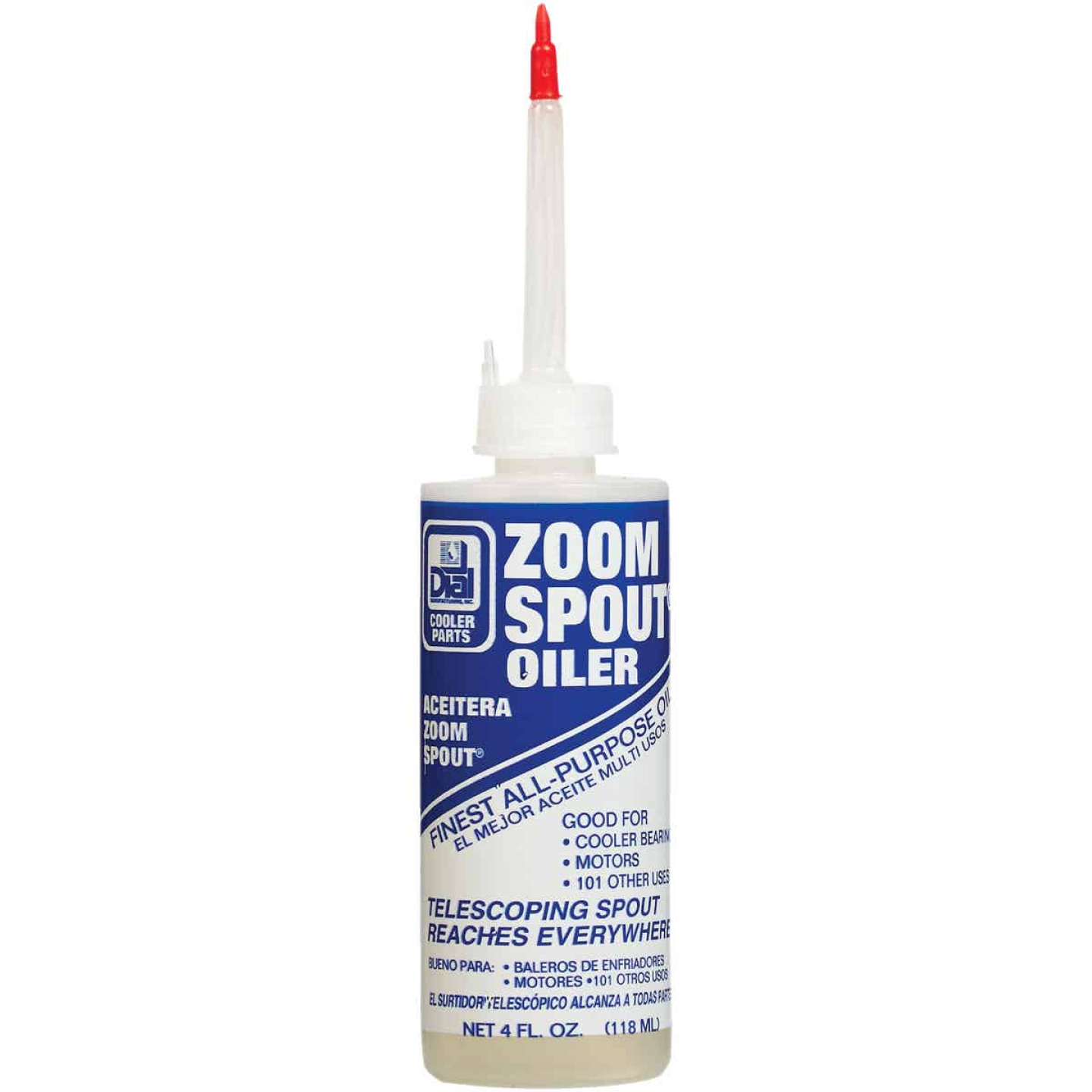 Dial Zoom Spout 4 Oz. Squeeze Bottle Multi-Purpose Lubricant Image 1