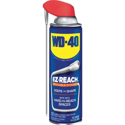 WD-40 14.4 Oz. Aerosol Multi-Purpose Lubricant with EZ Reach 8 In. Metal Straw