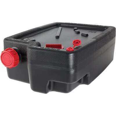 Hopkins Flotool Super Duty 10 Quart Black Polyethylene Oil Drain Pan