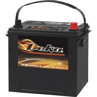 Deka Premium 12-Volt 550 CCA Automotive Battery, Top Post Right Front Positive Terminal