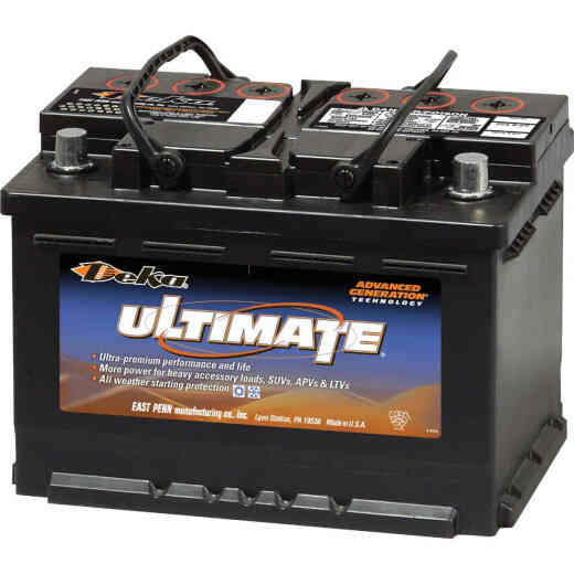Deka Ultimate 12-Volt 730 CCA Automotive Battery, Top Post Right Front Positive Terminal