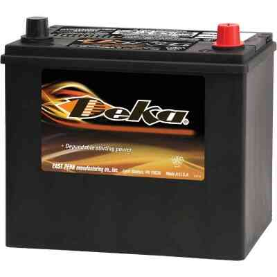 Deka Premium 12-Volt 450 CCA Automotive Battery, Top Post Right Front Positive Terminal