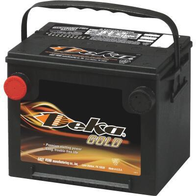 Deka Gold 12-Volt 650 CCA Automotive Battery, Side Post Left Front Positive Terminal