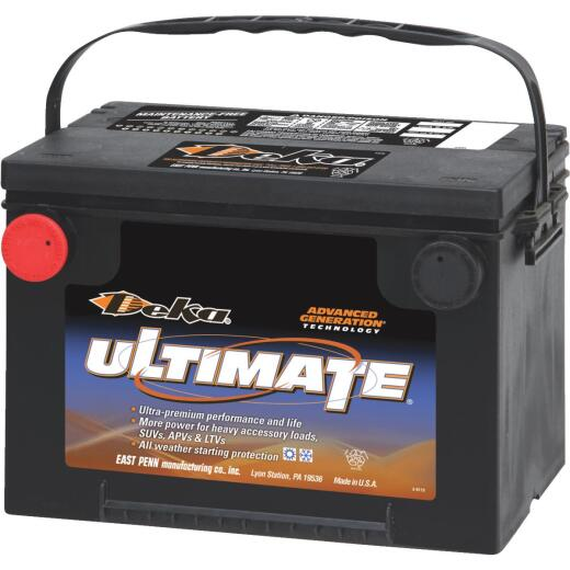 Deka Ultimate 12-Volt 800 CCA Automotive Battery, Side Post Left Front Positive Terminal