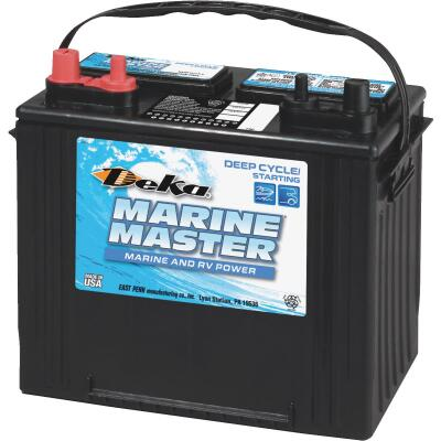Deka Marine Master 12-Volt 550 CCA Deep Cycle/Starting Marine/RV Battery, Left Front Positive Terminal