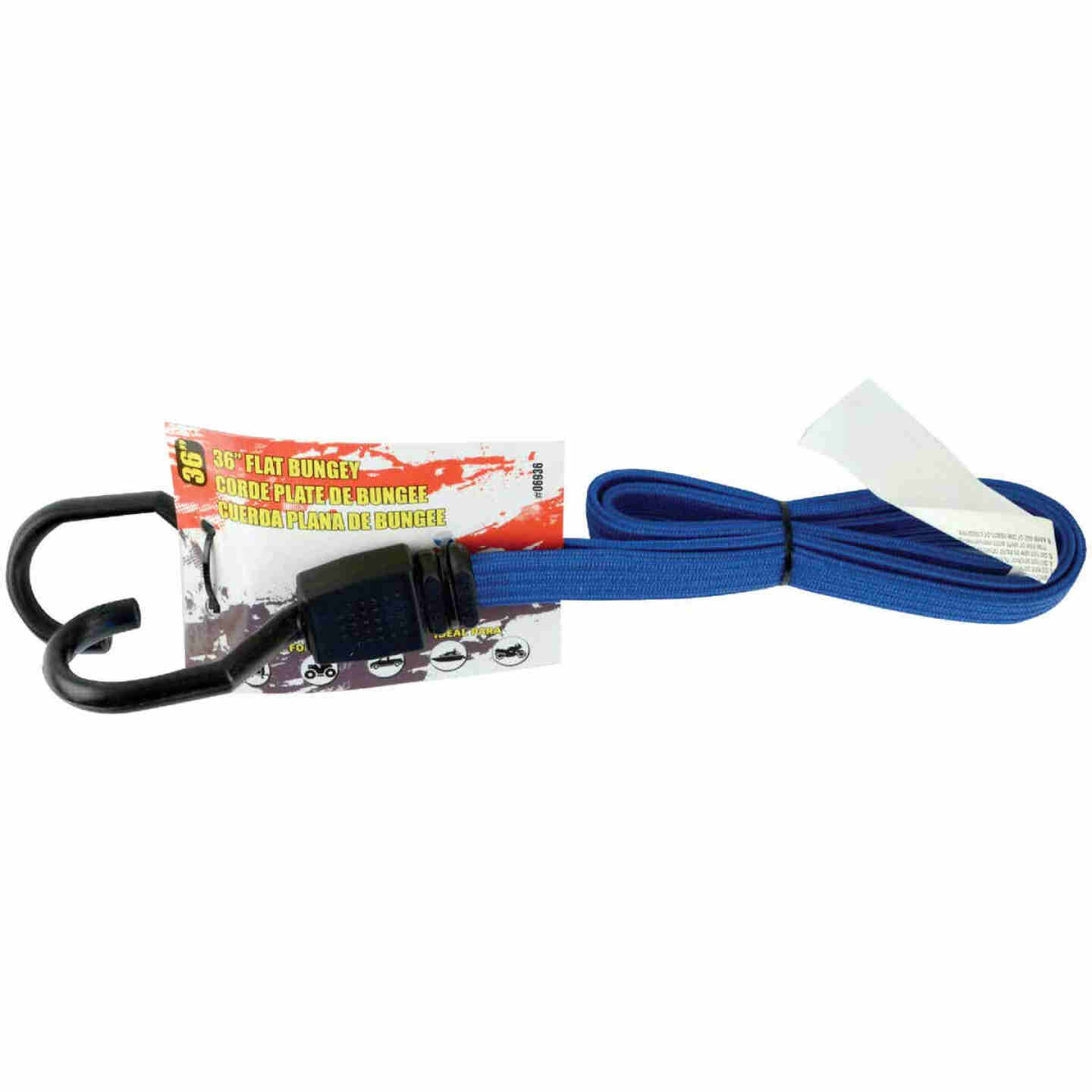 Erickson 3/4 In. x 36 In. Flat Bungee Cord, Blue Image 2