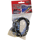 Erickson 1/8 In. x 12 In. Bungey Balls Bungee Cord, Black (2-Pack) Image 2