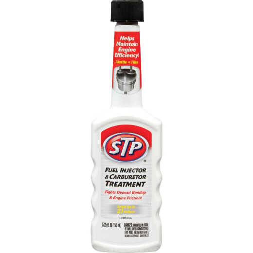 STP 5.25 Fl. Oz. Fuel Injector and Carburetor Fuel System Cleaner