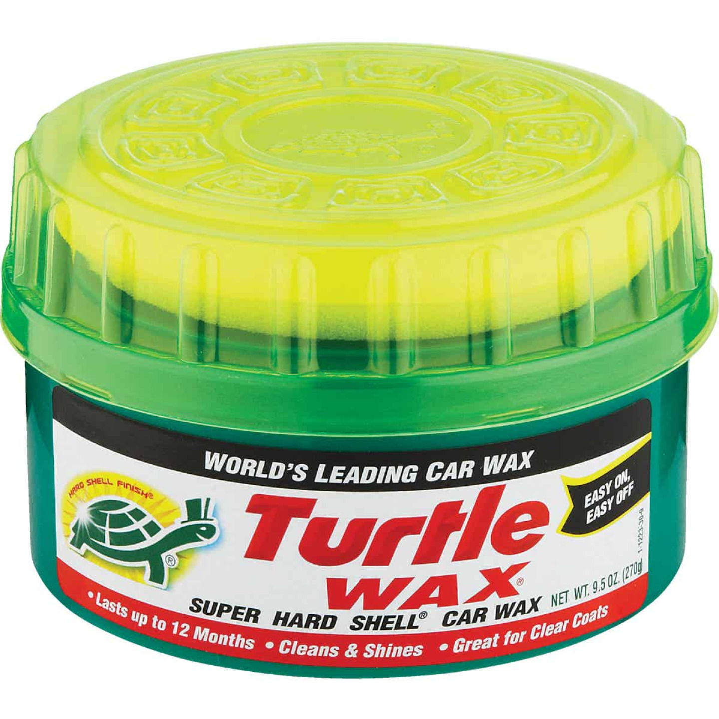 Turtle Wax Super Hard Shell Paste 9.5 Oz. Car Wax Image 1