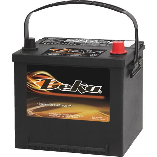 Deka Premium 12-Volt 540 CCA Generator/Automotive Battery, Top Post Right Front Positive Terminal