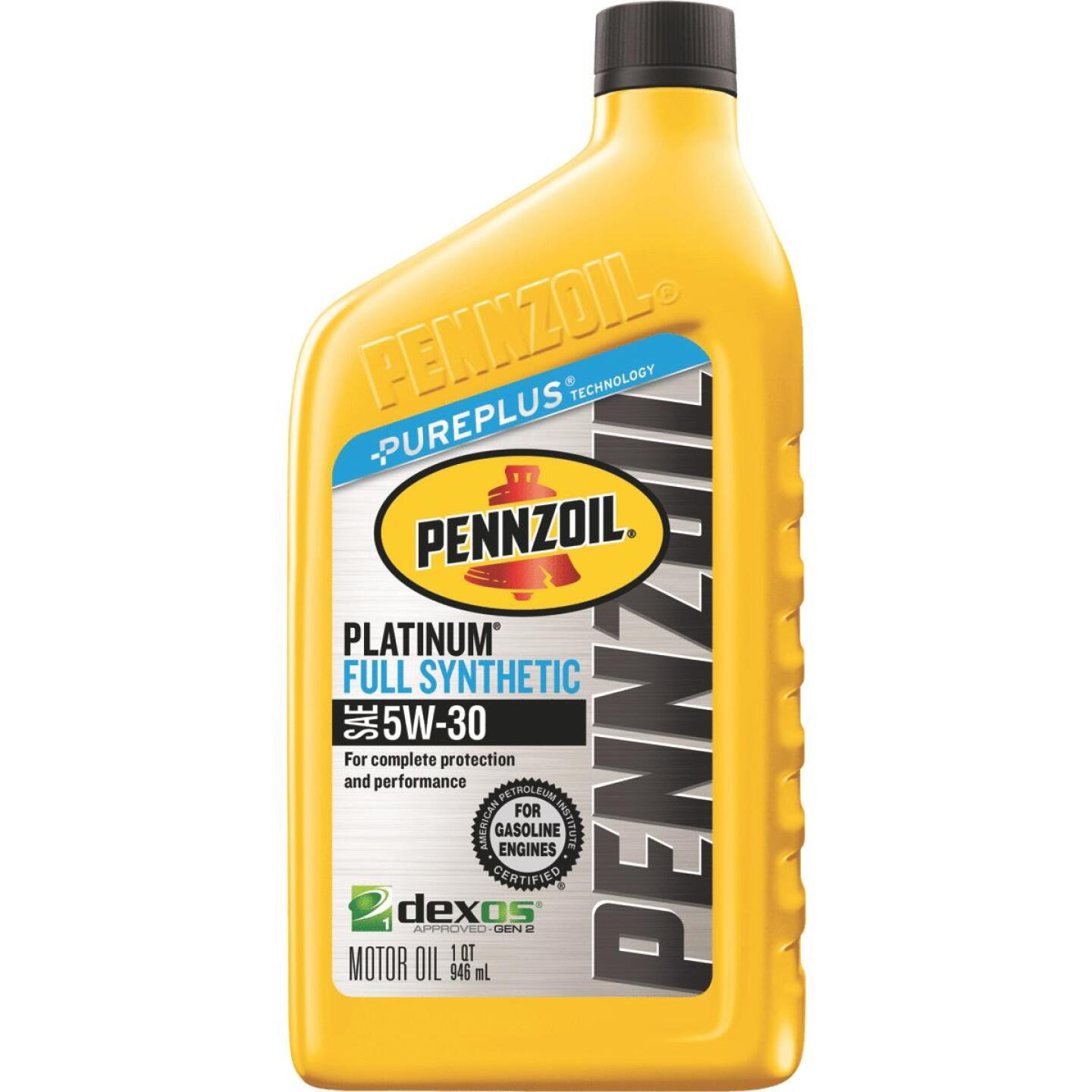 Pennzoil 5W30 Quart Synthetic Motor Oil Image 1