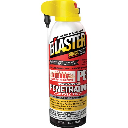 Blaster 11 Oz. Aerosol PB Penetrating Catalyst Penetrant with ProStraw Delivery System