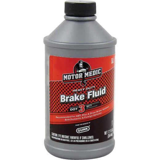 MotorMedic 12 Oz. Heavy-Duty DOT 3 Brake Fluid