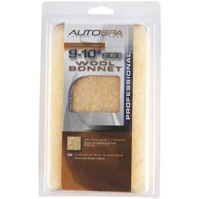 "Auto Spa 9"" To 10"" Washable Wool Polishing Bonnet"