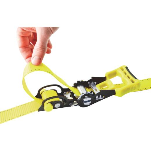 Erickson 1-1/4 In. x 14 Ft. 2000 Lb. Sliding Ratchet Strap (2-Pack)
