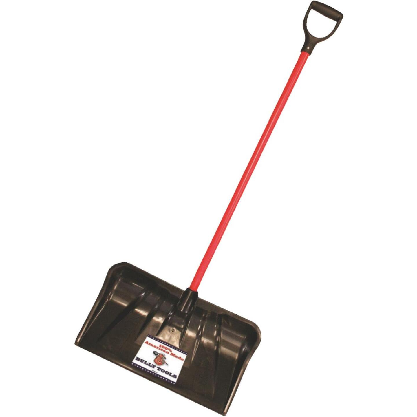 Bully Tools 22 In. Poly Combo Snow Pusher with 37 In. Fiberglass Handle Image 1