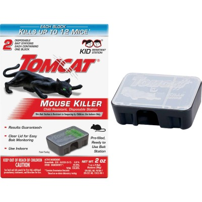 Tomcat Mouse Killer II Disposable Mouse Bait Station (2-Pack)