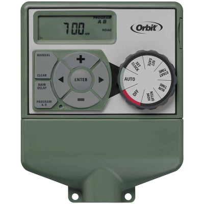 Orbit WaterMaster Dual Program 6-Station Indoor Mount Plug-In Sprinkler Timer