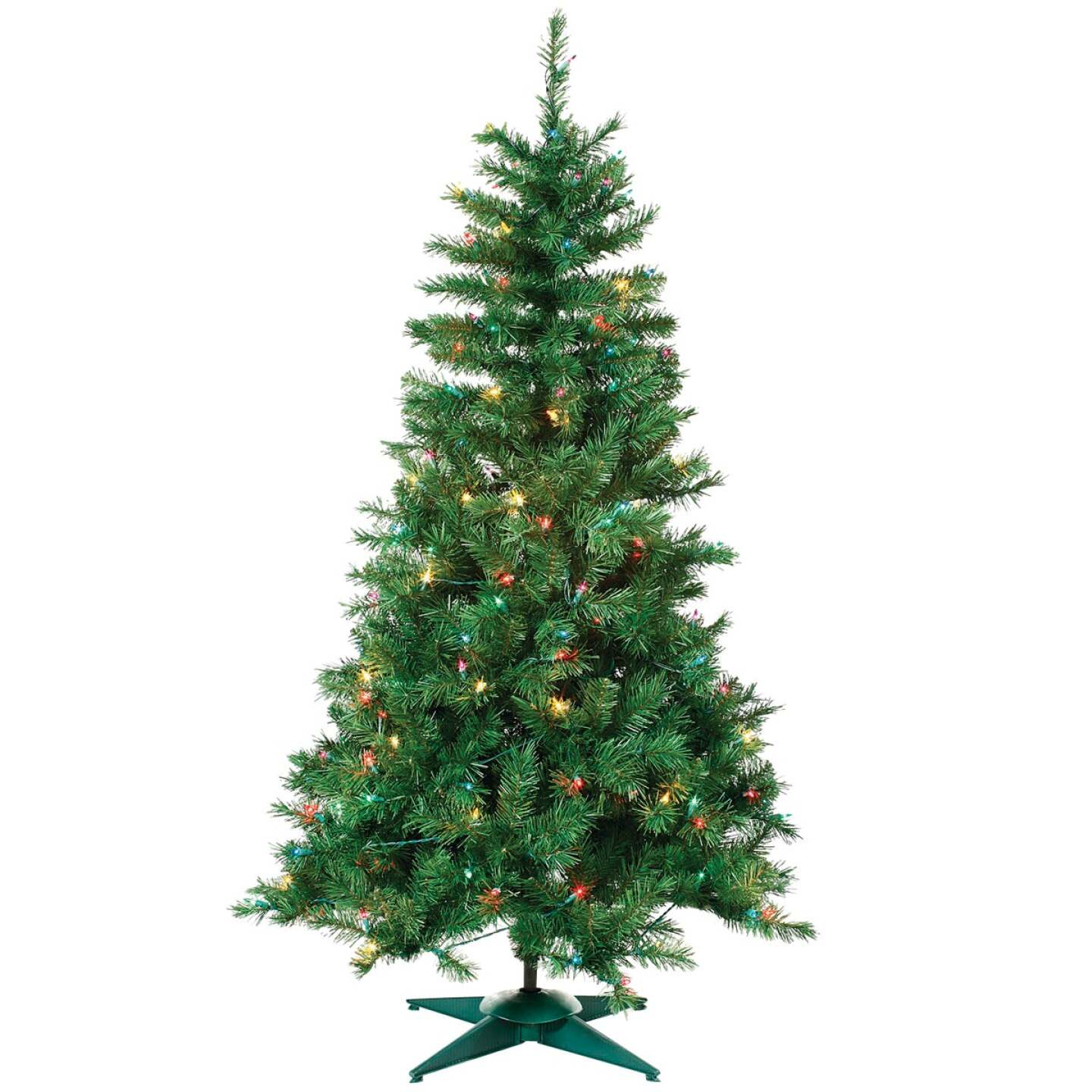 Sterling 4 Ft. Colorado Spruce 150-Bulb Multi Incandescent Prelit Artificial Christmas Tree Image 1